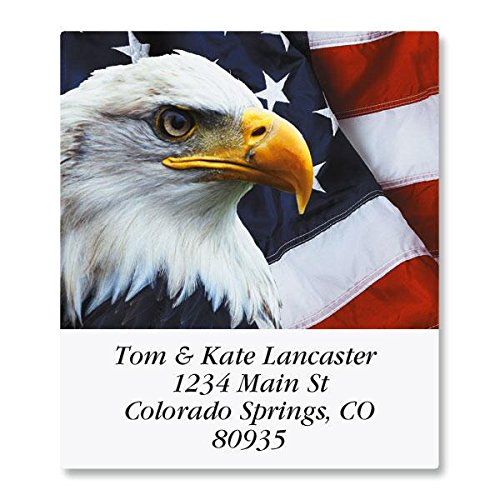 Bald Eagle Self-Adhesive, Flat-Sheet Select Address Labels