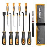 Hi-Spec 10 Piece Hook, Pick, Scraper & Pick-Up <span class='highlight'>Tool</span> Kit Set for Automotive, Garage, Workshop, Car <span class='highlight'>Mechanic</span>s DIY Repair & Crafting. Includes Telescopic Magnetic LED <span class='highlight'>Tool</span>