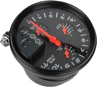 SCITOO Oil Pressure Digital Gauge 5 4-in-1 11K RPM Oil Pressure with LED Electronic Universal Press Gauge Meter for Car Vehicle Automotive Oil Press Sensor
