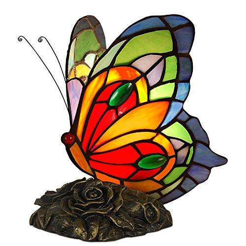 Arte Dal Mondo Schmetterling Nachttischlampen tischlampe glas im tiffany-stil handwerk AB08020