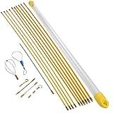 OBLUESKY Fish Tape - Kit di installazione con 9 accessori per la gestione dei cavi, 10 aste x 100 cm