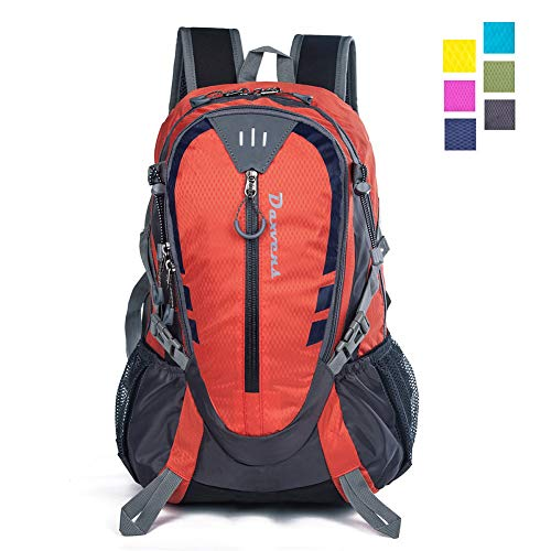 Daxvens Day Hiking Backpack Chest Waist Strap Small Lightweight Daypack