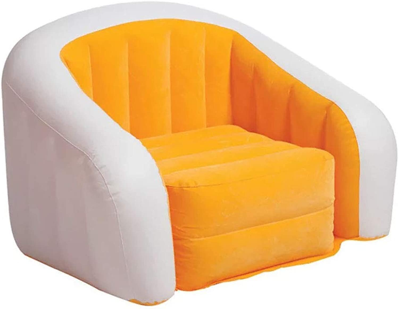 Café Club Assortment Chair, Inflatable Sofa Coffee Club Flocking Inflatable Sofa Multicoloured Inflatable Couch Coffee Club Inflatable Pad Inflatable Lazy Couch Inflatable Chair Sofa for Club, Home, Office Etc. (97cm76cm69cm) ,orange