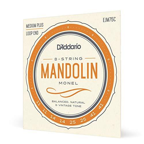 D'Addario EJM75C Monel-Saiten für Mandoline, mittlere Spannung (Medium Plus), 11-41