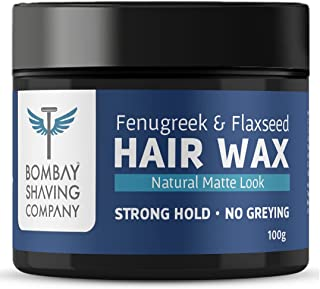 Bombay Shaving Company Strong Hold Hair Wax | Non- Sticky, Matte Finish and Chemical Free Hair Styling Wax, 100 Grams