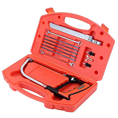 IWILCS 12PCS Multi-Purpose Handsaws Set, Metal Handheld Hacksaw Tile Saw, Bow Saws Woodworking Tools, for Cutting Wood, Plastic, Tile, Glass, Metal, Camping, PVC Pipe, Rubber