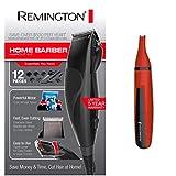 Remington 12 Piece Precision Corded Home Barber Haircut Trimming Kit & Remington Nose, Brow & Ear Trimmer Bundle