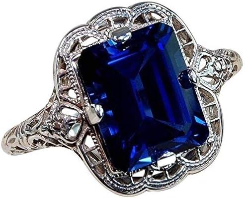 Elegant Vintage Women Silver Ring Engagement Max 57% OFF Statement Excellent Wedding R