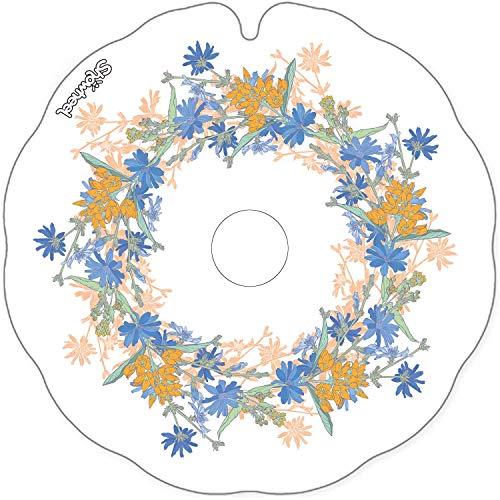 Rollstuhl Speichenschutz (Paar) für Greifreifen 51,51 bis 52,50cm Außendurchmesser, Flache Halter - Couronne florale