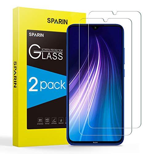 SPARIN [2 peças de vidro temperado compatível com Xiaomi Redmi Note 8 / Note 7 / Note 7 PRO, Xiaomi Film ...
