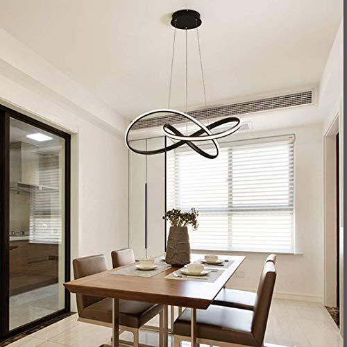 Wstomys Minimalista Moderno LED Creativo Arte de Metal Decoración de Interiores Mesa de Comedor Comedor Dormitorio Bar Stepless Oscurecimiento Araña