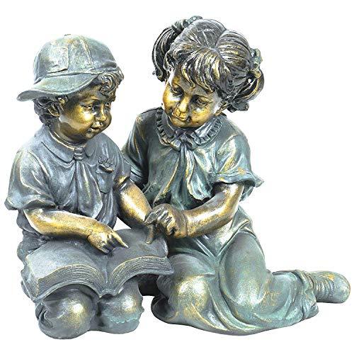 Alpine Corporation GXT258A Statue, Bronze
