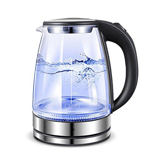 Wasserkocher Gray 1.7L Hervidor Eléctrico De Vidrio Apagado