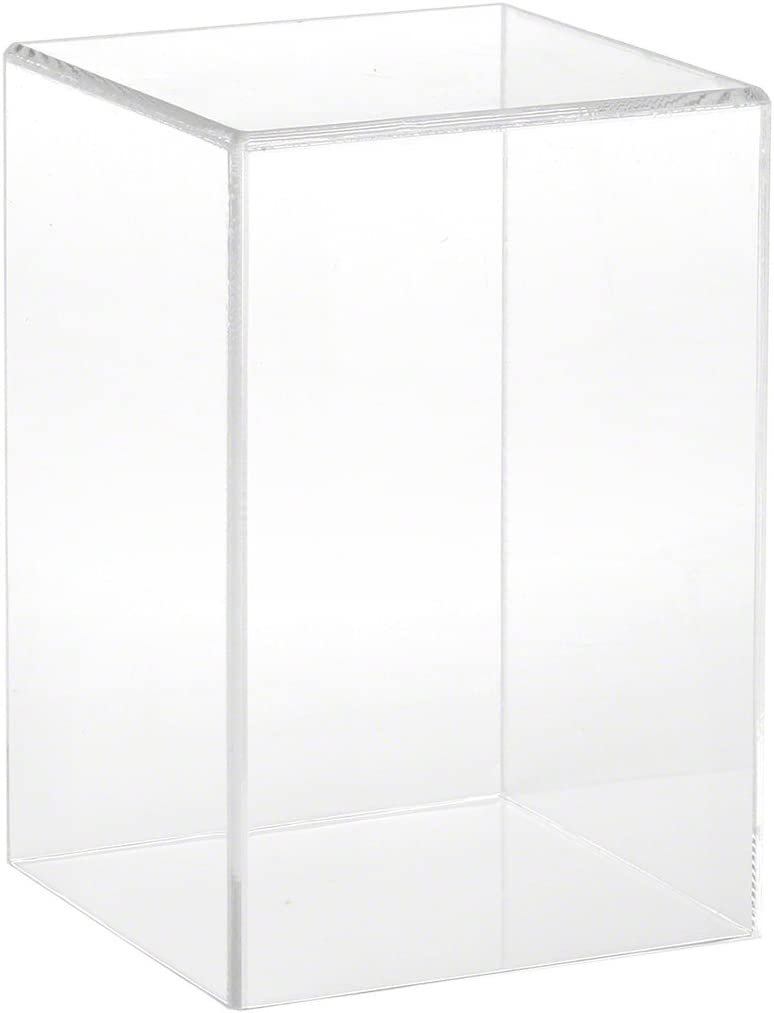 Plymor Clear Acrylic Be super welcome Display 4 years warranty Case with No W D 4