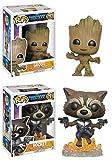 Funko POP! Guardians of The Galaxy Vol. 2: Groot + Rocket - Marvel Vinyl Bobble-Head Figure Set New