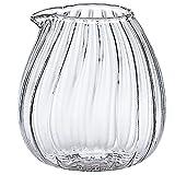 アデリア(ADERIA) ガラス食器 ミルクピッチャー クリア 80ml ミニピッチャー卵モール 耐熱ガラス製 F-37417