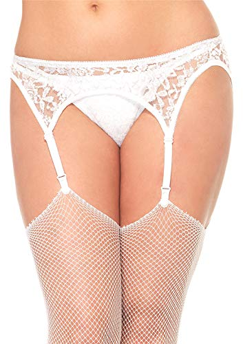 Leg Avenue Women's Lace Garter Belt and Thong Set, Plus Size