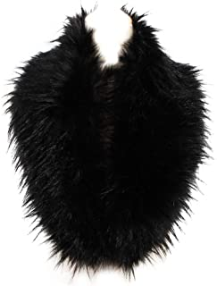 Faux Fur Collar Women's Neck Warmer Scarf Wrap Gatsby 1920s Shawl Accessories