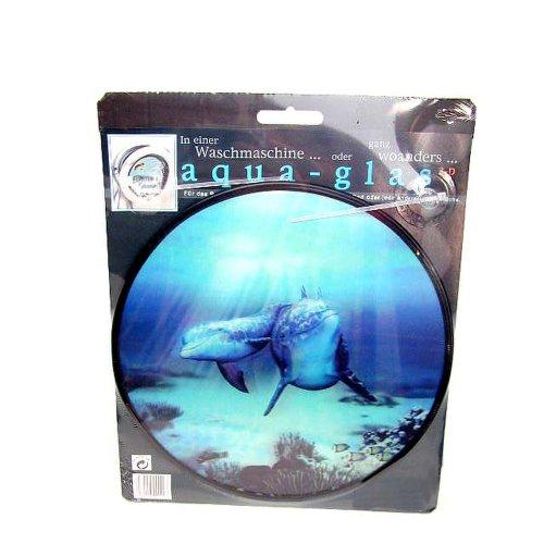 HAB & GUT -AG002-3 dimensionales Dekobild für Waschmaschine Delfin mit Saugnapf zur Befestigung an der Waschmaschinen am Bullauge