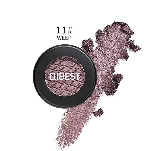 Luckhome Farben Schimmer Matt Mineral Pigment Lidschatten Palette Nude Beauty Make up (K)