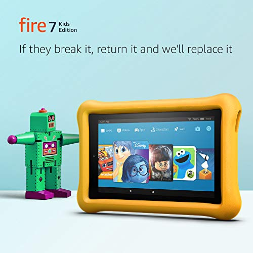 """All-New Fire 7 Kids Edition Tablet, 7"""" Display, 16 GB, Yellow Kid-Proof Case"""