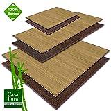 casa pura Stuoia Bambu Ecologica e Multiuso - Tappeti Cucina Lunghi, Grandi e Piccoli | 2 Colori Selezionati | Naturale - 120 x 180 cm