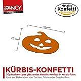 Halloween Metallic Konfetti KÜRBIS Pumpkin 30g – ideale Tisch-Deko & Party-Dekoration für Gruselige Halloween-Partys - 3