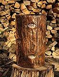 Portaombrelli in rame lavorato a mano unico tronco portaoggetti