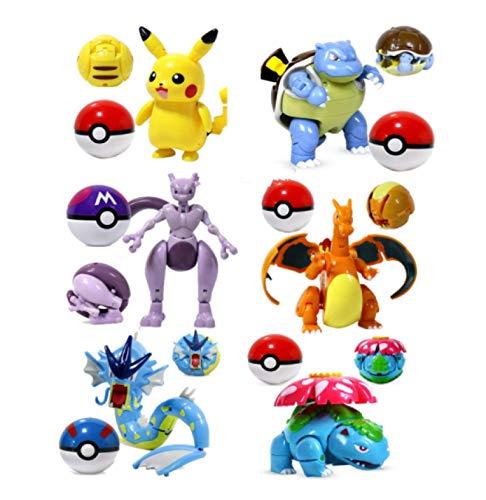 Klycbds 6 Stück / Set 8-11 cm Pokemon...
