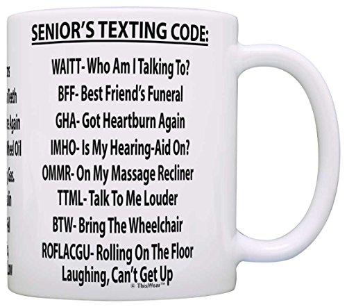 Senior's Texting Code Coffee Mug