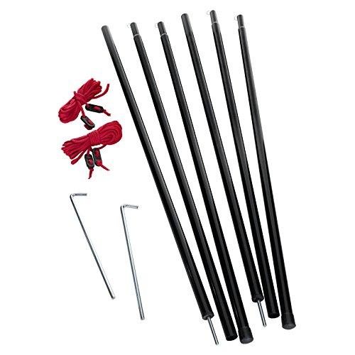 JUSTCAMP Zusatz Zeltstangen Set Entrance Pole Set, 200 cm, Zeltgestänge zum Abstützen von Vorzelten, Tarps, Sonnensegel