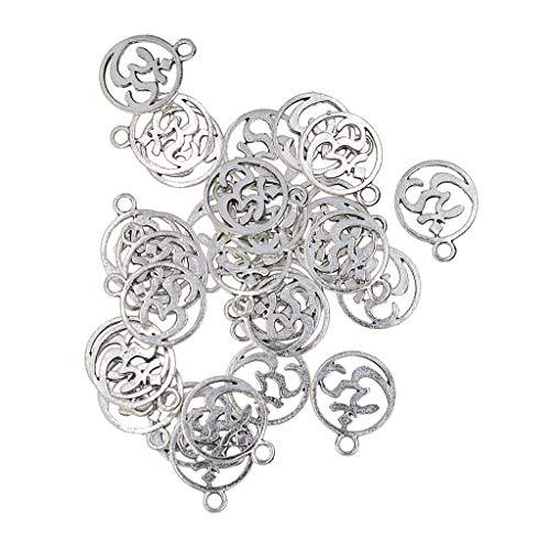 Sharplace 30 Stücke Tibetischen Silber Aushöhlen Anhänger DIY Kleidung Schuhe Tasche Dekoration