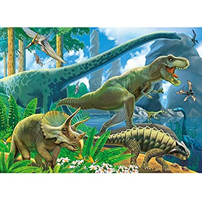 Planet of The Dinosaurs Instructive Jigsaw Puzzle for Children | Fun & Entertaining Toys for Kids | Epic Birthday for Boys & Girls | 60 Pieces (26cm x 36cm)