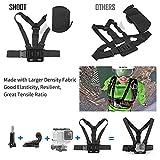 SHOOT Zubehör Bundle Set für GoPro 6/5/4/3+/3/2 SJ4000 SJ5000 Sportarten Kamera Kopf Gurtband + Brust Gurtband + Floating Grip + Tasche