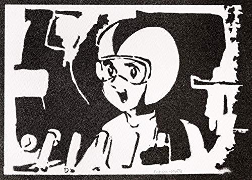 Sayaka In Aphrodite Robot Poster Handmade Graffiti Street Art - Artwork