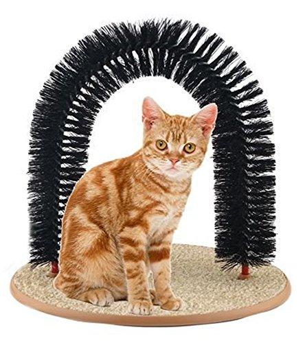 Estrella Márketing Grupo Arco Gato Ama de llaves Masajeador Rasguño Picar Juguete (negro)