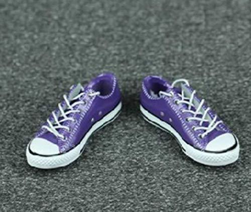 Tytlmask kleding, model 1/6, voor dames, sneakers, modieus, violet, 12 inch