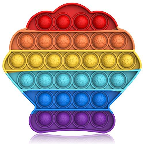 Bdwing Push and Pop Bubble Fidget Toy, Juguete Antiestres Educativo para aliviar el estrés, Necesidades Especiales silenciosas Aula para niños (Multicolor)