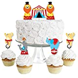 Big Dot of Happiness Carnival - Step Right Up Circus - Dessert Cupcake Toppers - Carnival Themed Party Clear Treat Picks - Set of 24
