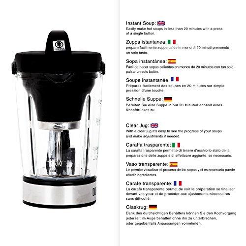 Duronic BL78 elektrischer Standmixer/Suppenbereiter / Babynahrungszubereiter/Thermalmixer und Kochmixer mit 1,2L Glasbehälter – Suppe auf Knopfdruck kreiert - 6