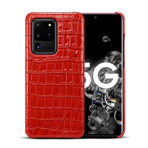 Aralinda Luxury coccodrillo modello protettivo antiurto caso caso in vera pelle per Galaxy S20 Ultra/S20 Ultra 5G (6.9 pollici), colore: Rosso