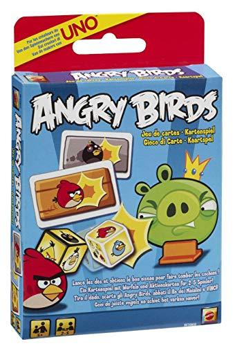 koenig-tom Mattel W3969 - UNO Angry Birds Kartenspiel