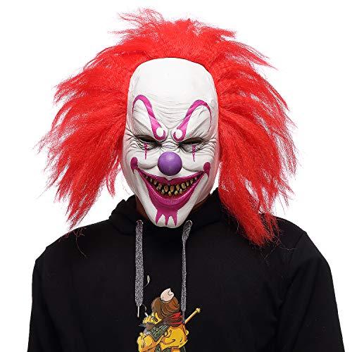 Scary Joker Masks for Halloween Adults Creepy Clown Evil Face Mask White