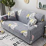 XVBABY Thick Sofa Coverselastic Lazy Universal Sofa Cover, Universal All-Inclusive Combination Sofa Cover Single Seat (90-140Cm) Gray-Love