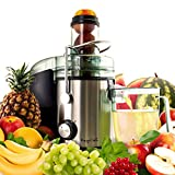 MegaChef Wide Mouth Extractor Juice Machine with Dual Speed Centrifugal Stainless Steel Juicer, 3.5 Cup, Chrome Silver