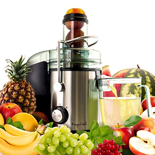 Why Choose MegaChef Wide Mouth Extractor Juice Machine with Dual Speed Centrifugal Stainless Steel J...