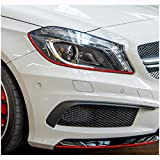 Finest-Folia - Lámina adhesiva Devil Eye para los faros del Opel Astra H J K I G Corsa E D C OPC