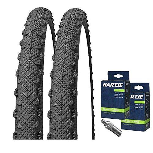 Mitas Set: 2 x Winner Classic MTB Reifen SEMI-Slick 26x1.90 + 2 SCHLÄUCHE Dunlopventil