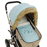 iFCOW Baby-Kinderwagen-Bezug, Schlafsack-Set für Neugeborene, Baby-Kindersitz, Baldachin, Buggy, Wickeltuch für Mädchen und Jungen