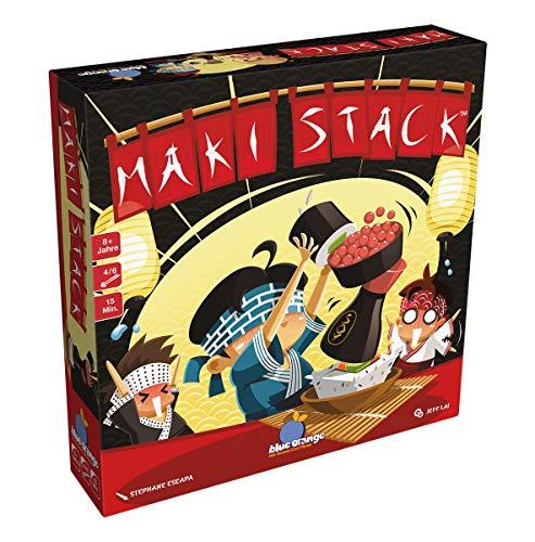 Blue Orange BLO0012 Maki Stack, Geschicklichkeits-Spiel Asmodee